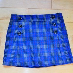 Gap wool blue plaid mini Skirt sz 4